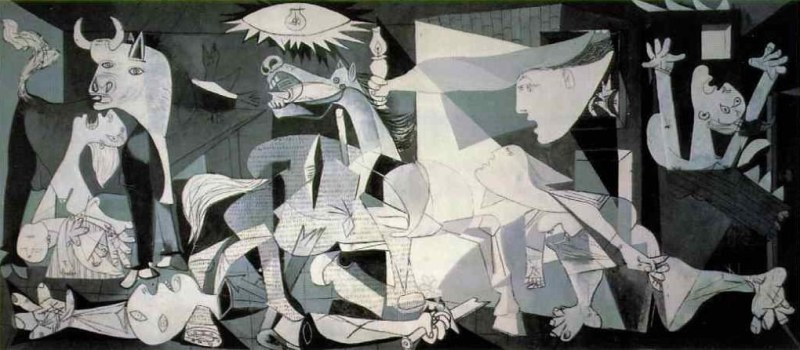 Painting by Picasso of Guernica